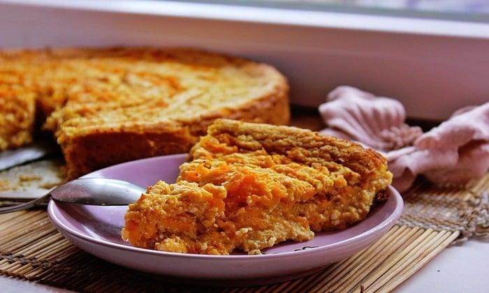 Рецепт тыквенного пирога с творогом для диабетиков