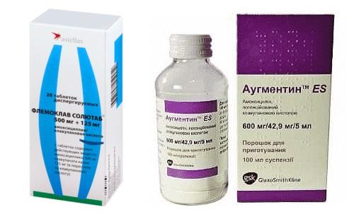 Медикаменты Аугментин или Флемоклав Солютаб используются в лечении патологий, которые спровоцированы бактериальной инфекцией
