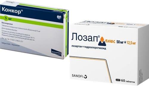 Лозап и Конкор - эффективная комбинация антигипертензивных препаратов