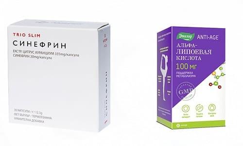 Синефрин и Альфа Липоевая Кислота запускает активные процессы жиросжигания