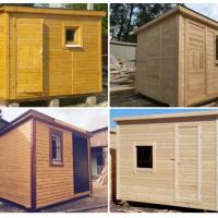 Конструкции деревянных и металлических строительных бытовок